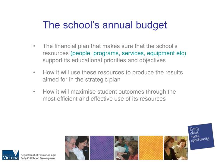The school's annual budget