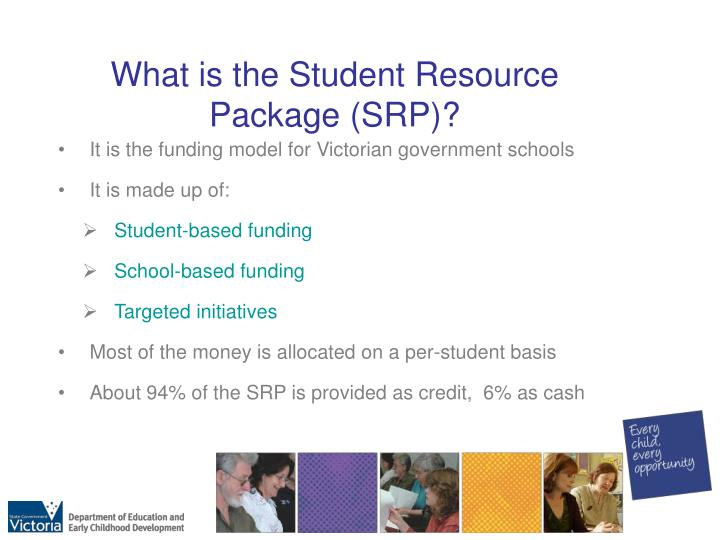 What is the Student Resource Package (SRP)?