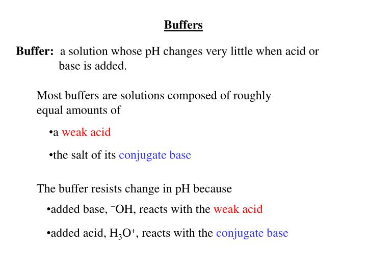 Buffers