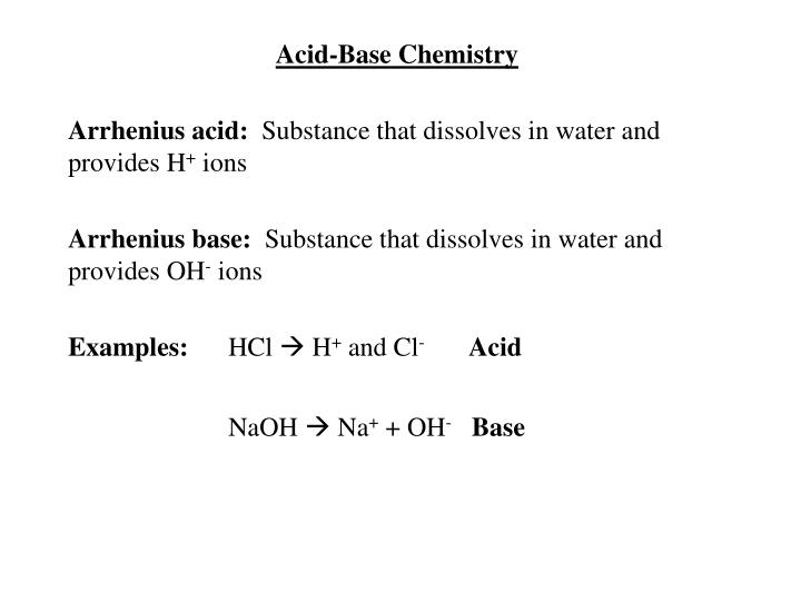 Acid-Base Chemistry
