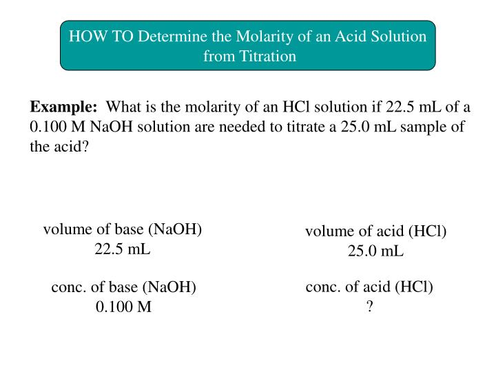 HOW TO Determine the Molarity of an Acid Solution