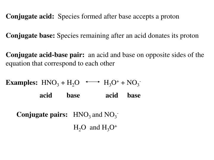Conjugate acid: