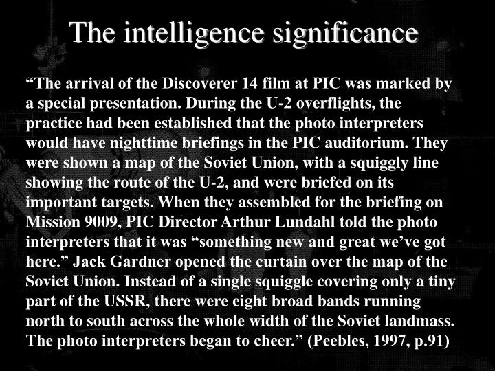 The intelligence significance