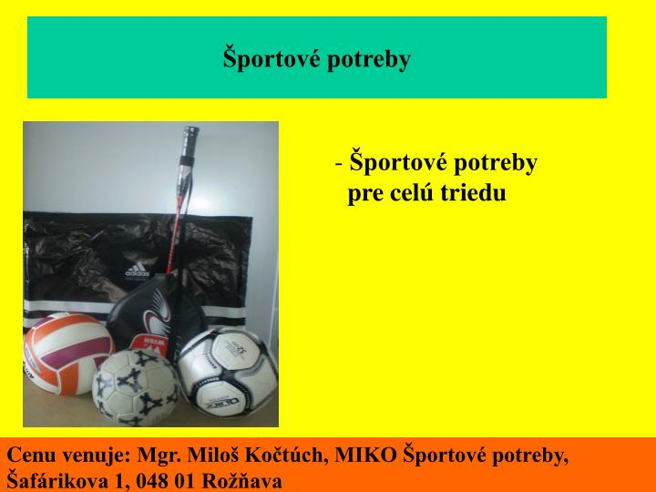Športové potreby