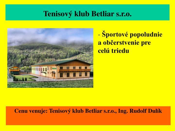 Tenisový klub Betliar s.r.o.