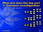what else does this buy you 2 transport reconfiguration