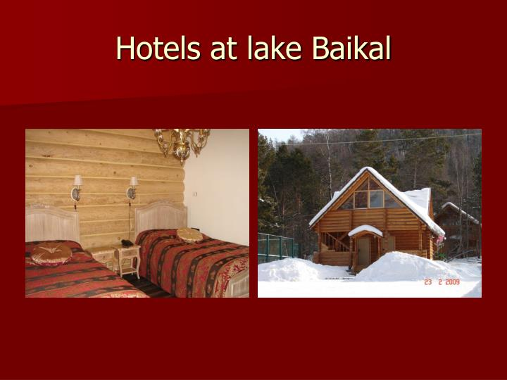 Hotels at lake Baikal