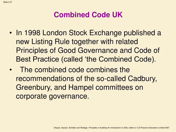 Combined Code UK