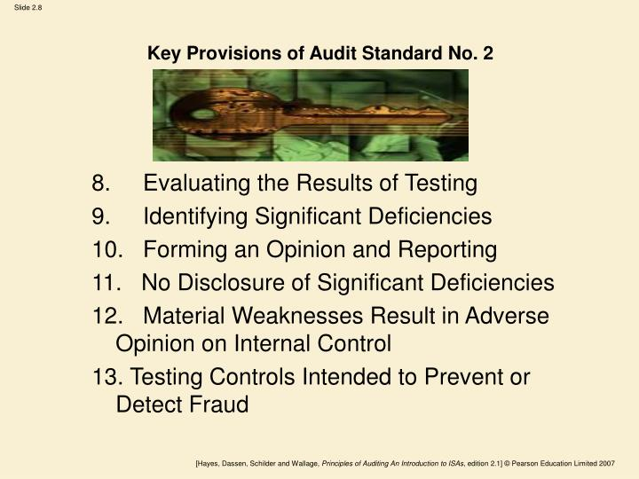 Key Provisions of Audit Standard No. 2