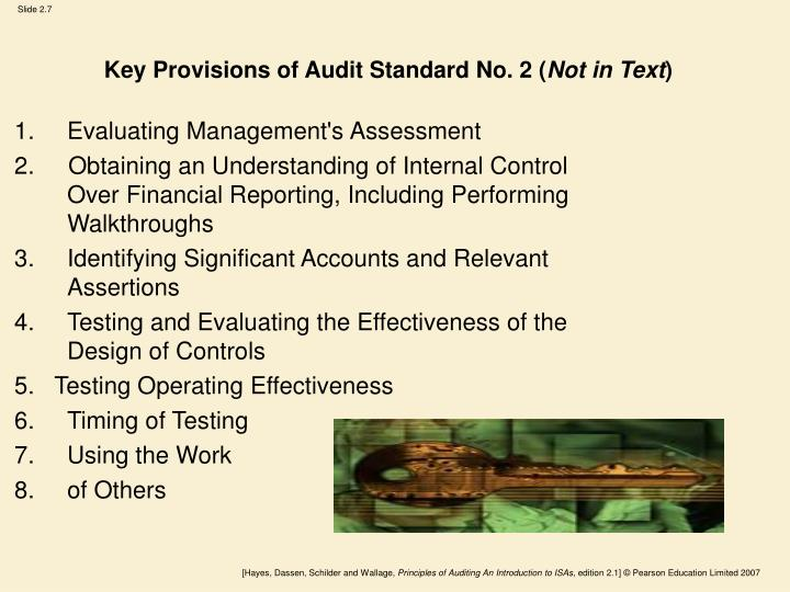 Key Provisions of Audit Standard No. 2 (