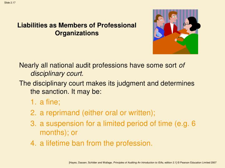 Liabilities as Members of Professional Organizations