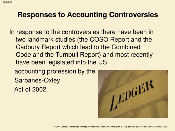 Responses to Accounting Controversies
