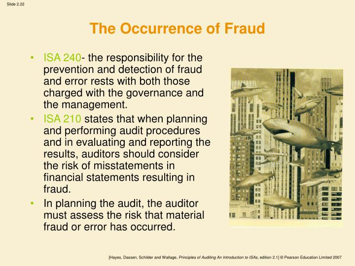 The Occurrence of Fraud