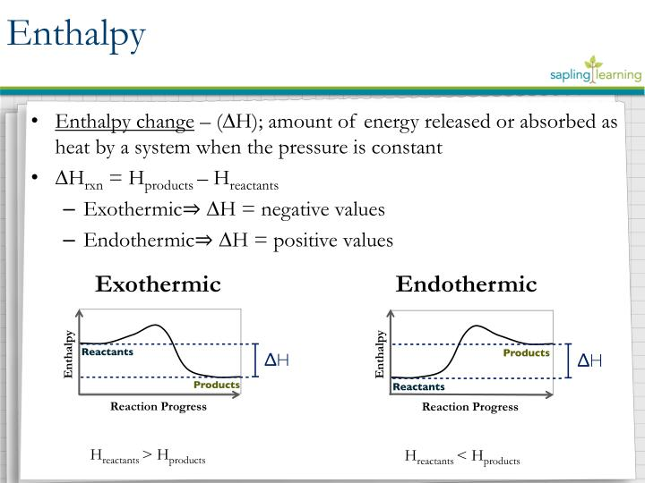 Enthalpy change