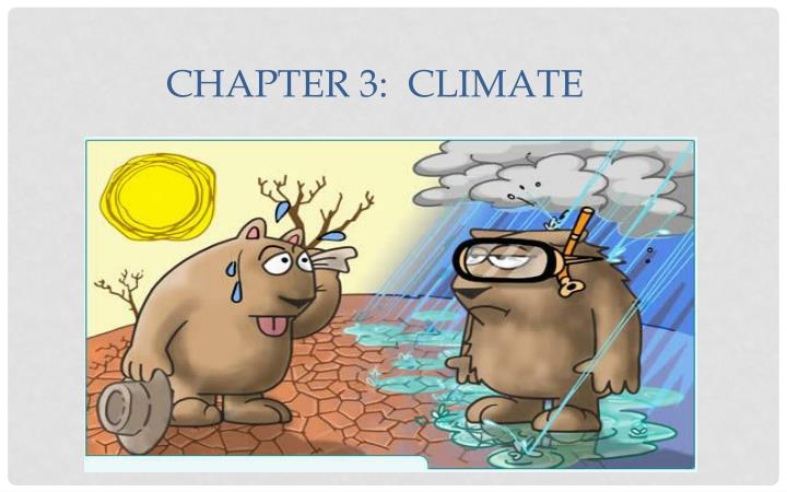 Chapter 3 climate