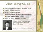daiichi sankyo co ltd