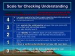 scale for checking understanding2