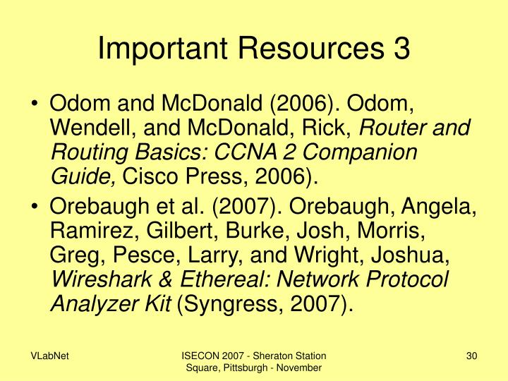Important Resources 3