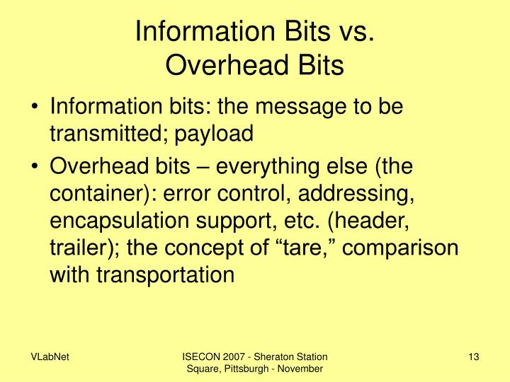 Information Bits vs.