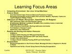 learning focus areas