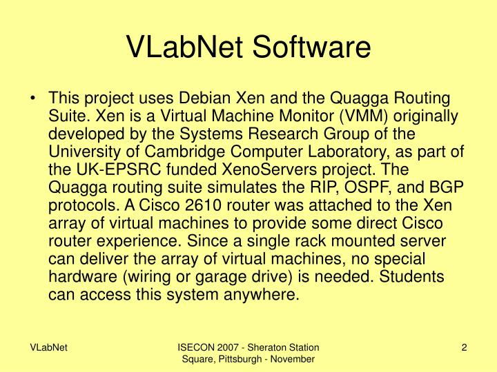 VLabNet Software