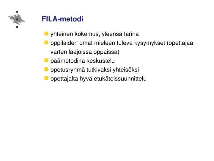 FILA-metodi