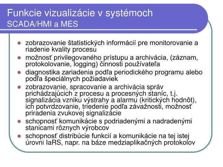 Funkcie vizualizácie v systémoch