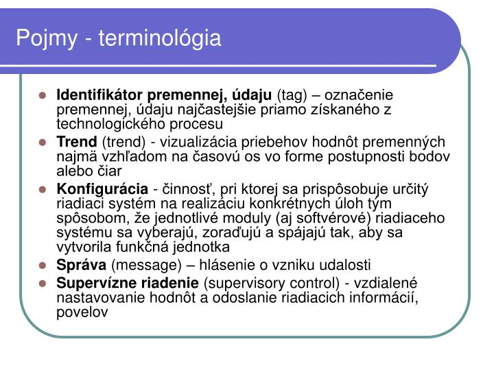 Pojmy - terminológia