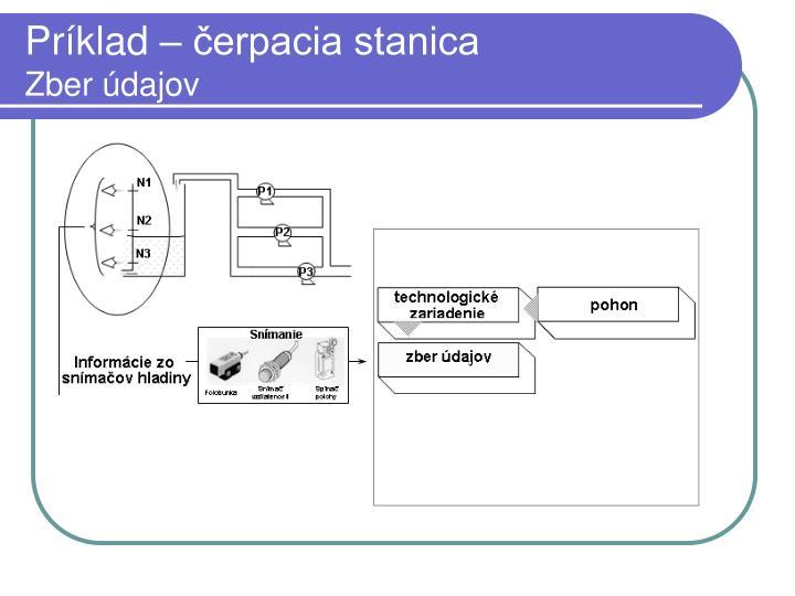 Príklad – čerpacia stanica
