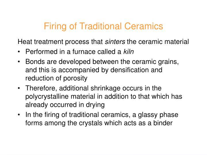 Firing of Traditional Ceramics