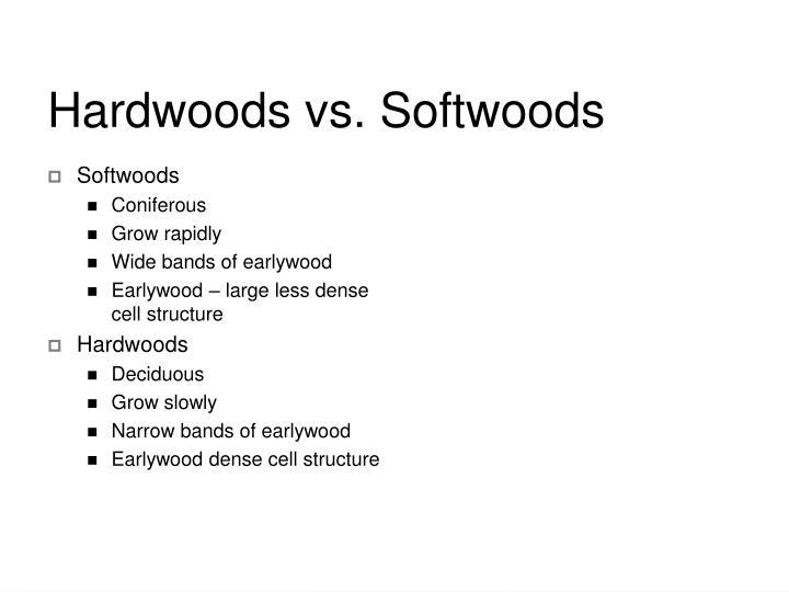 Hardwoods vs. Softwoods
