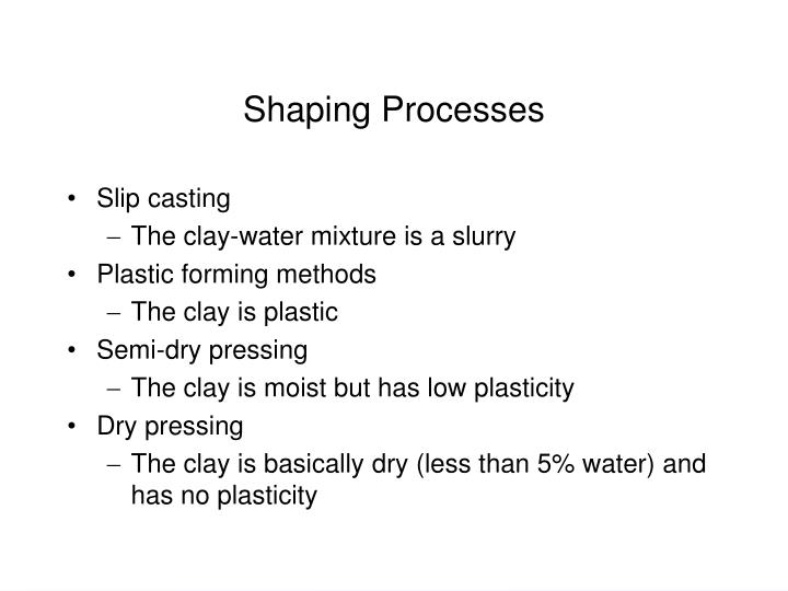 Shaping Processes