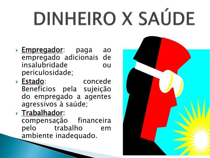 DINHEIRO X SAÚDE