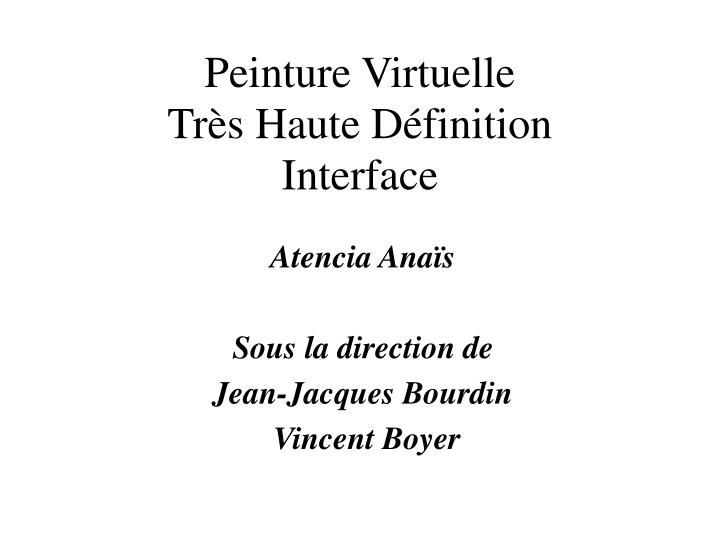 Atencia ana s sous la direction de jean jacques bourdin vincent boyer