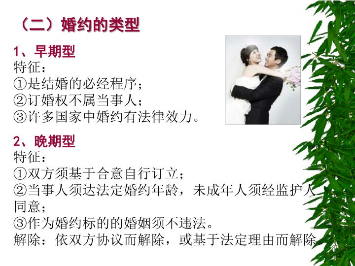 (二)婚约的类型