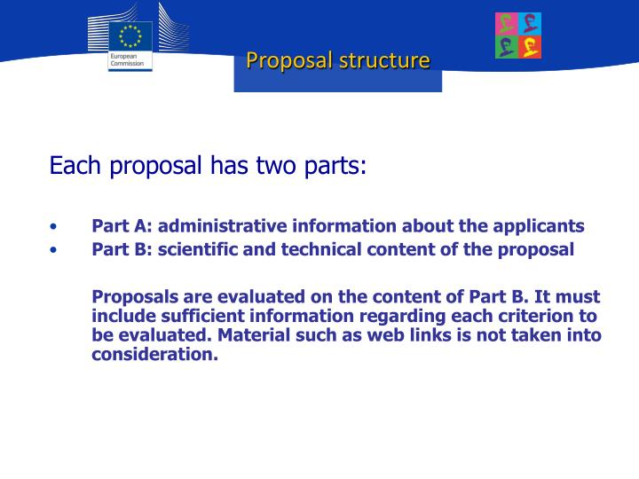 Proposal structure