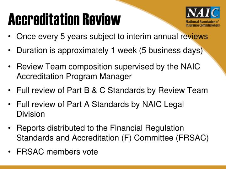 Accreditation Review