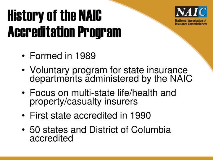 History of the NAIC