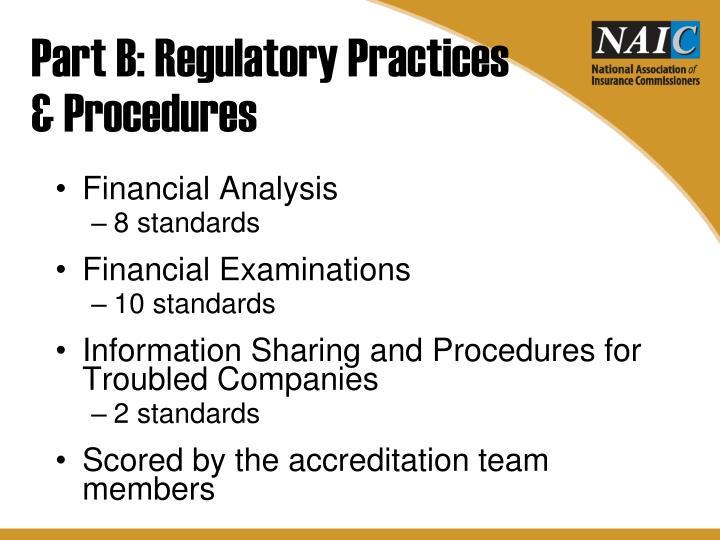 Part B: Regulatory Practices