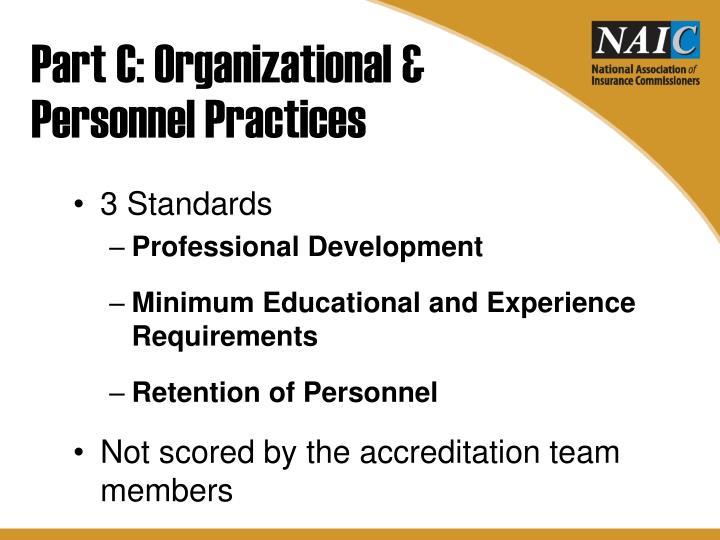 Part C: Organizational &