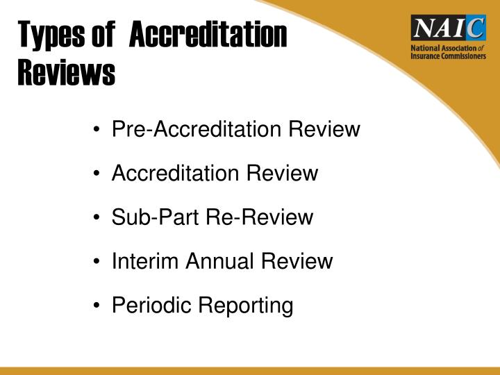 Types of  Accreditation
