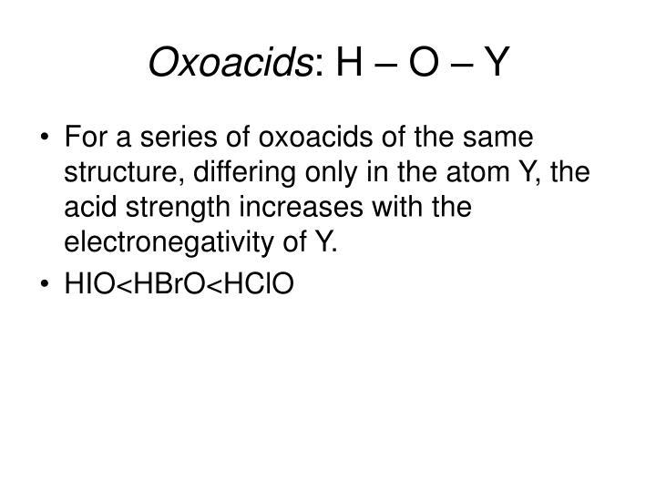 Oxoacids