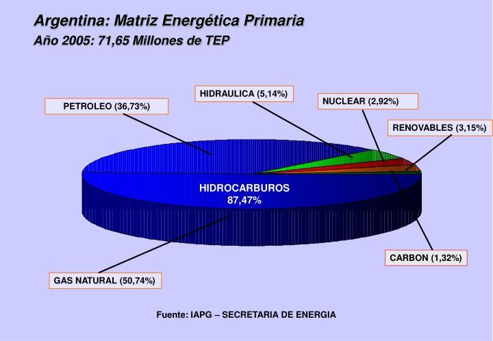 Argentina: Matriz Energética Primaria