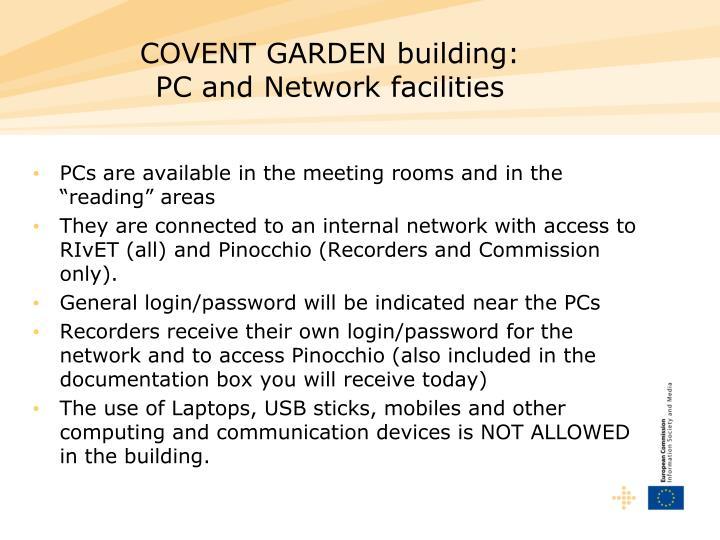 COVENT GARDEN building: