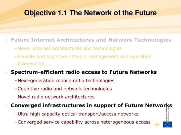 Objective 1.1 The Network of the Future