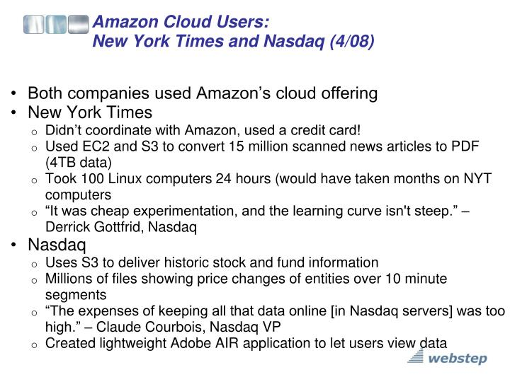Amazon Cloud Users: