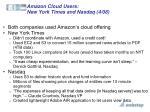 amazon cloud users new york times and nasdaq 4 08