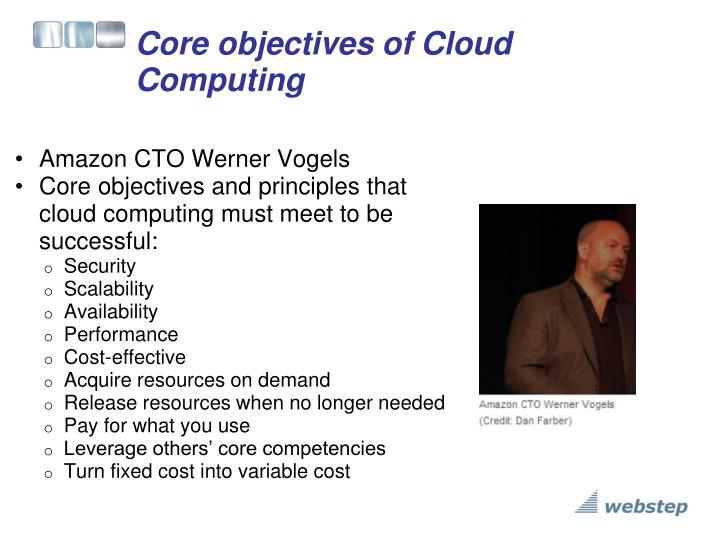 Core objectives of Cloud Computing