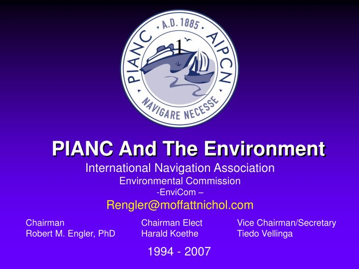 Pianc and the environment