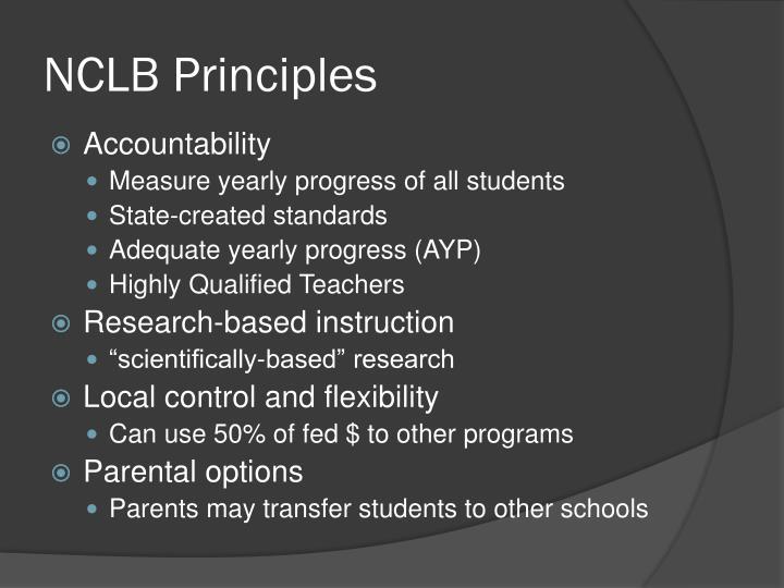 NCLB Principles